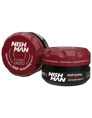 Nish Man Matte Styling Texturizing Mess Up 100 ml - Barber Products