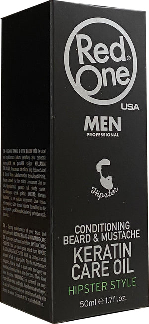 Red One Beard & Mustache Care Oil 50 ml - Barber Products