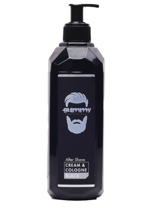 Gummy After Shave Cream Cologne Black 400 ml - Barber Products