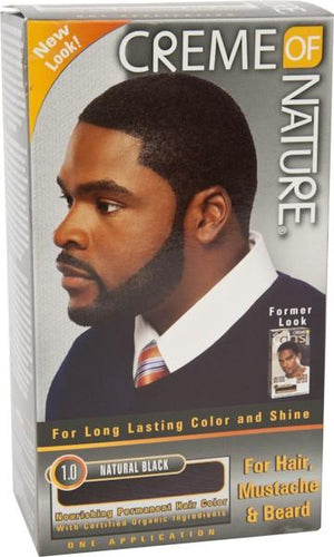 Creme Of Nature Hair Colour Kit Man Natural Black - Barber Products