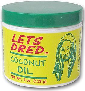 LETS DRED COCONUT OIL 113 g - Barber Products