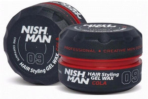 Nish Man Hair Styling Gel Wax Cola 150 ml - Barber Products