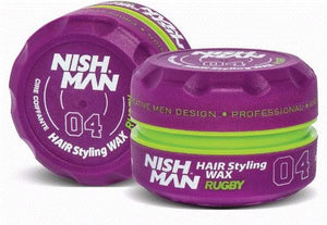 Nish Man Hair Styling Wax Rugby 150 ml - Barber Products