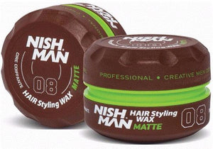 Nish Man Hair Styling Wax Matte 150 ml - Barber Products