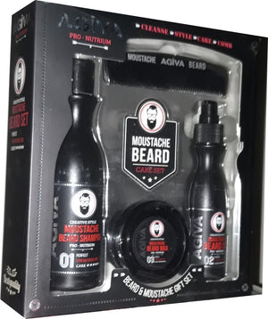 Agiva Moustache Beard Set - Barber Products