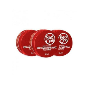 RED ONE HAIRWAX AQUA RED VOORDEELPAKKET 3 STUKS - Barber Products