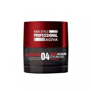 Agiva Hair Styling Gel 04 Black Power Gel 700ml - Barber Products