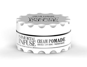Immortal Infuse Cream Pomade Firm Hold Low Shine 150 ml - Barber Products