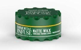 Immortal Infuse Matte Wax Strong Hold Naturel Look 150 ml - Barber Products