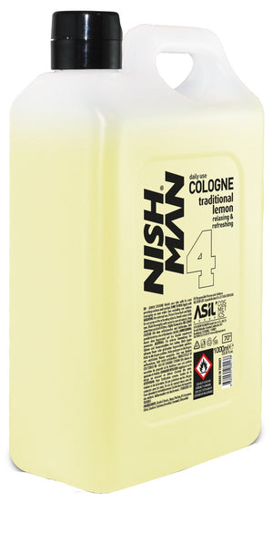Nishman After Shave Cologne Lemon 1000 ml - Barber Products