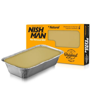 Nishman Professional Depilatory Hard Wax Natural - Barber Products