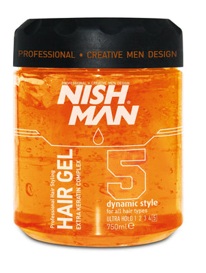 NISHMAN Styling Gel  Ultra Hold 750 ml - Barber Products