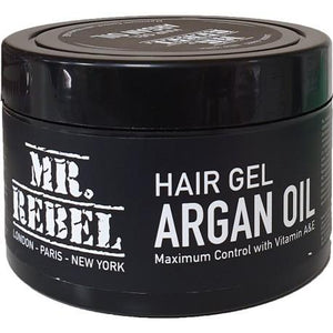 Mr Rebel Hair Gel Argan Oil 450 ml - Barber Products