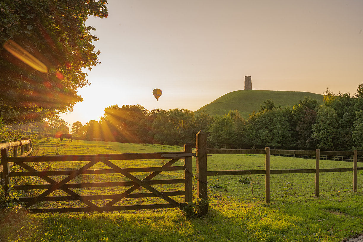 Glastonbury Tor Canvas ~ Balloon