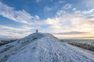 Glastonbury Tor Canvas ~ Snowy Tower