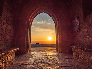 Glastonbury Tor Mounted Print ~ Sunrise Through the Archway