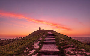 Glastonbury Tor Canvas ~ World Earth Day Dawn