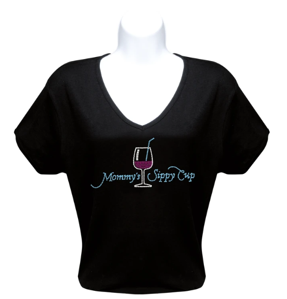MOMMY'S SIPPY CUP - RHINESTONE T-SHIRT