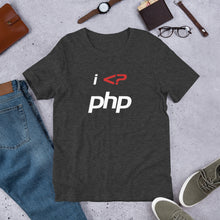 Load image into Gallery viewer, I Love PHP Premium Unisex T-Shirt