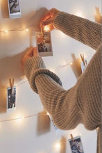 Load image into Gallery viewer, Wooden Photo Clip String Light (Warm White)