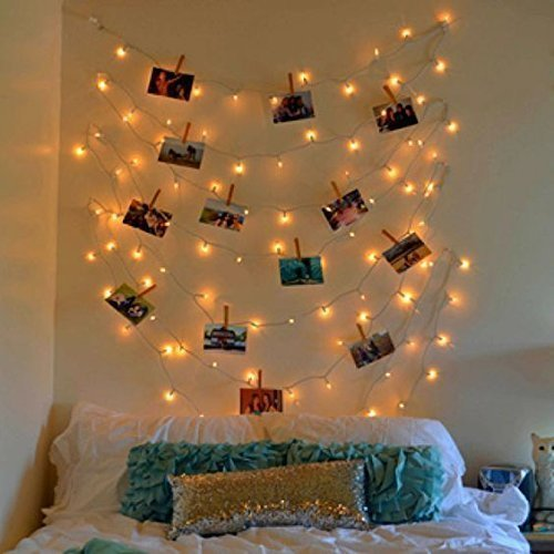 Wooden Photo Clip String Light (Warm White)