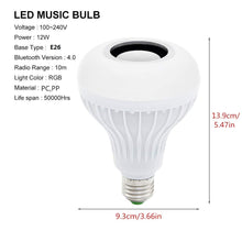 Load image into Gallery viewer, Bluetooth Colour Bulb Light E27 (Multicolour, 10 CM)