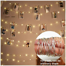 Load image into Gallery viewer, Transparent Clip String Light Battery Powered  (Warm White, 2 Meters)