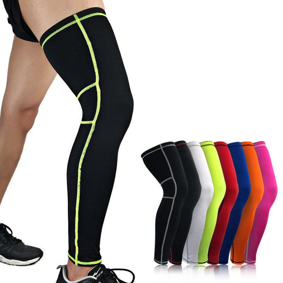 Aolikes 1Pcs Super Elastic Lycra Basketball Leg Warmers Calf Thigh Compression Sleeves Knee Brace Soccer Volleyball Cycling 9 Colors