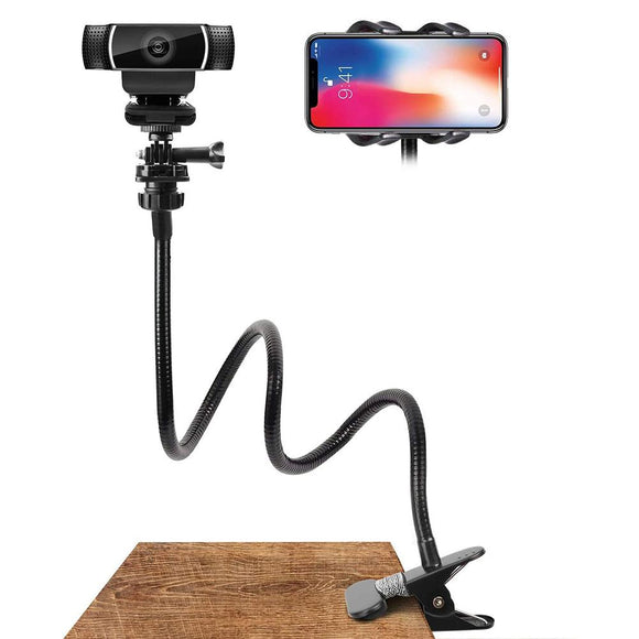 Nouveau Support pour Webcam Support de bureau flexible Pince col de cygne Support de caméra pour Webcam Accessoires Support pour téléphone Support magnétique