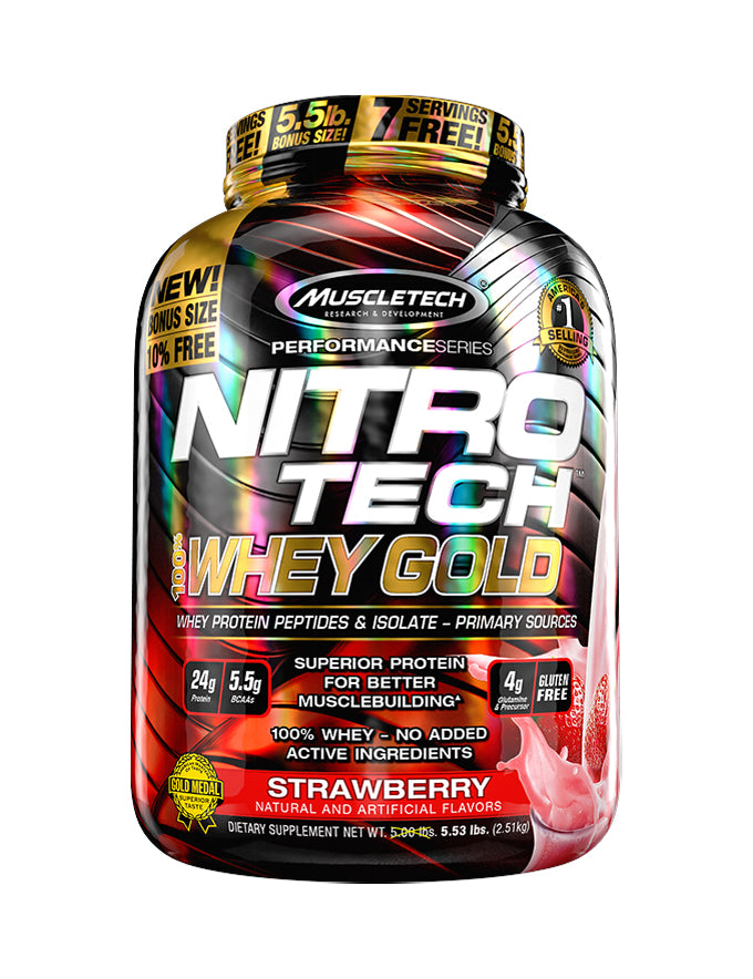MuscleTech Nitro Tech 100% Whey Gold - 5.5lb