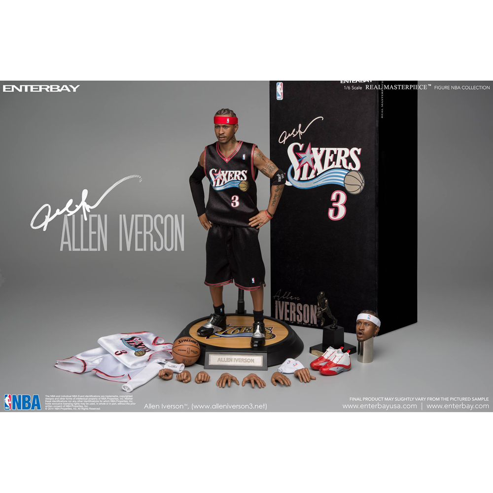 detailing cd3cb eb666 NBA Collection: Philadelphia 76ers Allen Iverson 1:6 Scale ...