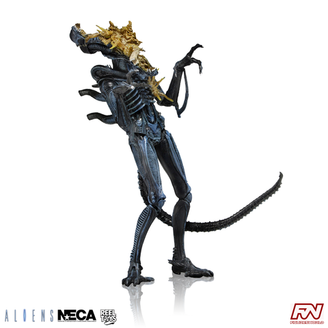 ALIENS SERIES 12: Xenomorph Warrior Battle Damaged (Blue) Action Figure