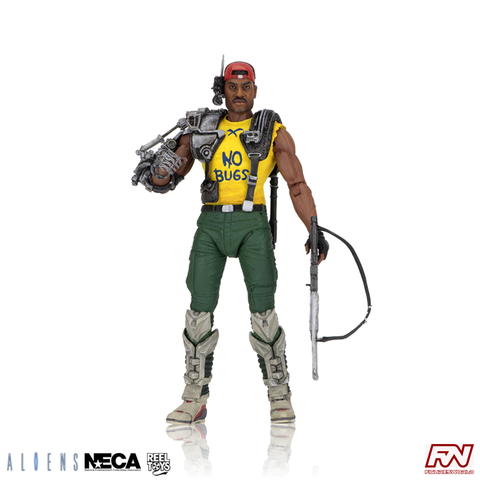 ALIENS: Series 13 Space Marine Sgt. Apone Kenner Tribute Action Figure with Mini-Comic Book