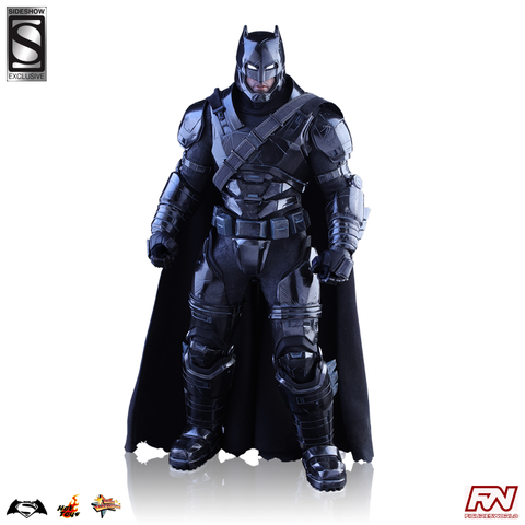 BATMAN V SUPERMAN: DAWN OF JUSTICE Armored Batman (Black Chrome Version) Sideshow Exclusive 1:6 Figure