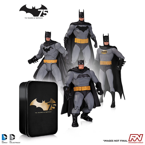 Batman 75th Anniversary Action Figure 4-Pack (Set #2)