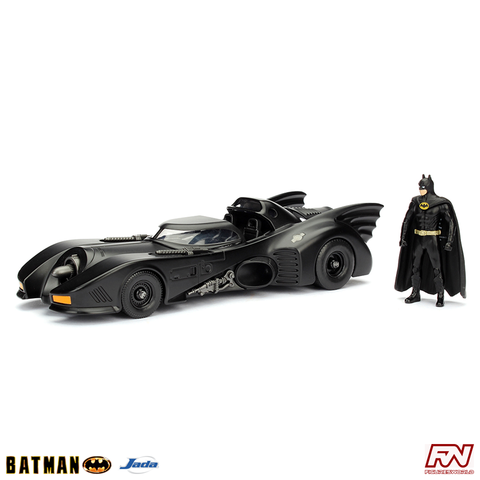 BATMAN MOVIE 1989: Batmobile with Batman 1:24 Die Cast Vehicle & Figure