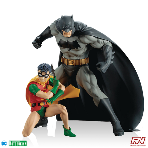 DC COMICS: Batman & Robin Two-Pack ArtFX+ PVC Statue