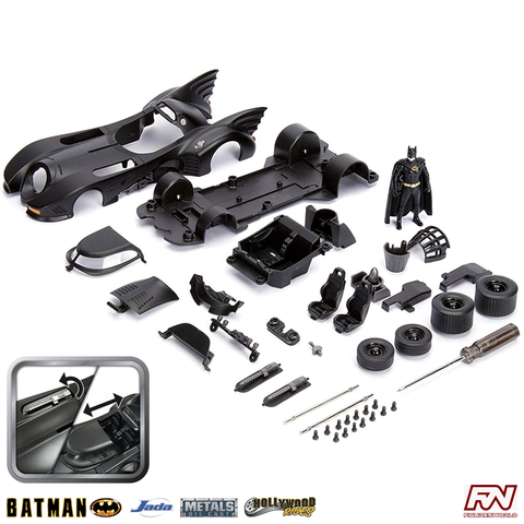 BATMAN MOVIE 1989: Batmobile 1:24 Metals Die Cast Model Kit