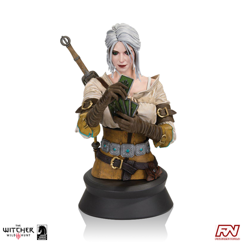 THE WITCHER 3 - WILD HUNT: Ciri Playing Gwent Bust