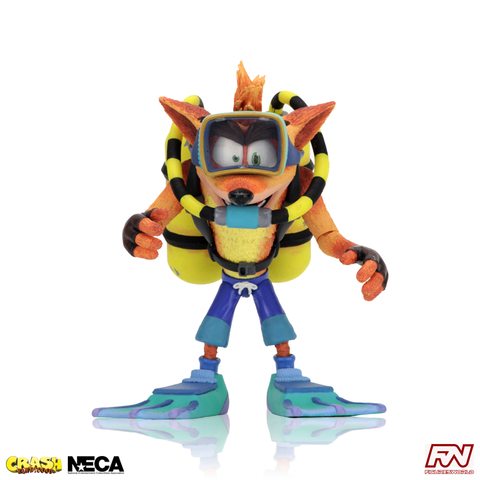 Deluxe Scuba Crash Bandicoot 7-Inch Scale Action Figure