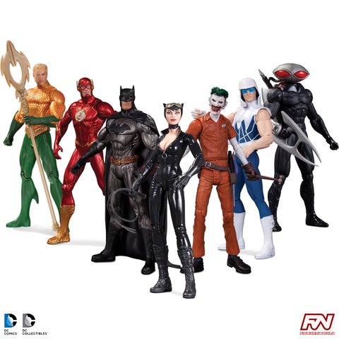 DC COMICS THE NEW 52: Super Heroes vs. Super Villains Action Figure 7-Pack