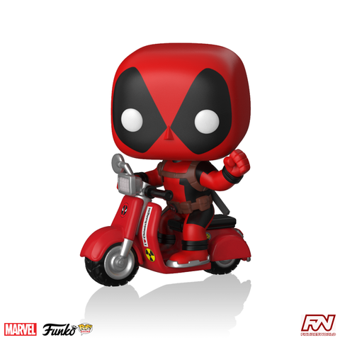 POP! RIDES: MARVEL - Deadpool on Scooter #48