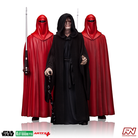 STAR WARS: Emperor Palpatine Royal Guard 3-Pack ArtFX+ Statue