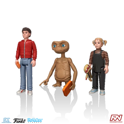 E.T. THE EXTRA TERRESTRIAL: ReAction Action Figure 3-Pack