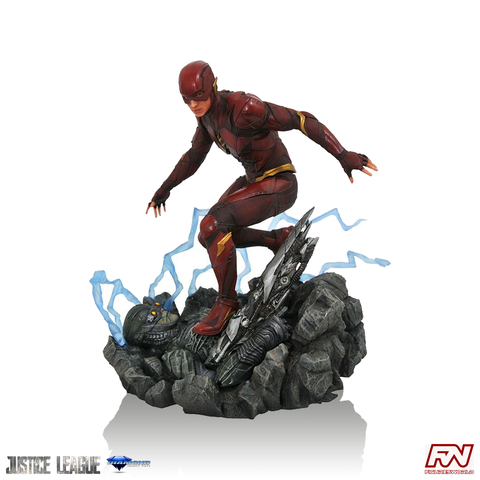 DC GALLERY: JUSTICE LEAGUE MOVIE The Flash PVC Diorama