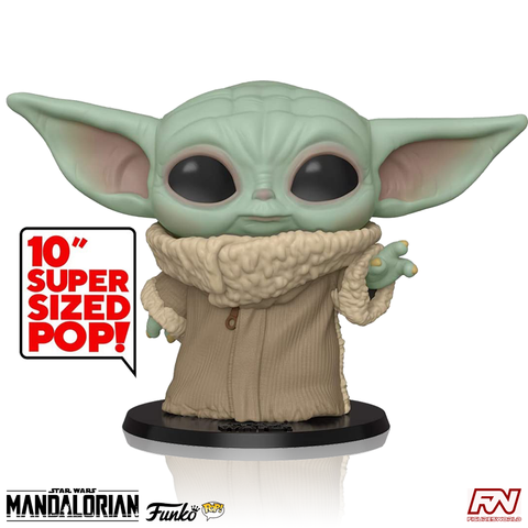 "POP! STAR WARS: THE MANDALORIAN - The Child 10"" Super Sized Vinyl Bobble Head (#369)"
