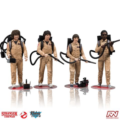 STRANGER THINGS: EXCLUSIVE Ghostbusters Deluxe Box 4-Pack 7-Inch Scale Action Figures
