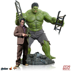 THE AVENGERS: Bruce Banner and Hulk 1:6 Scale Movie Masterpiece Figure Set