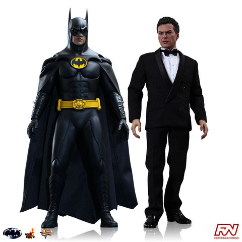 BATMAN RETURNS: Batman & Bruce Wayne 1:6 Scale Movie Masterpiece Figures Set