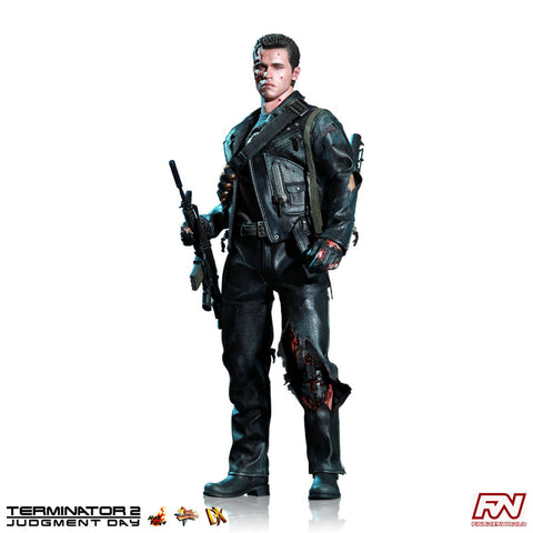 TERMINATOR 2: T-800 (Battle Damaged Version) DX 1:6 Scale Movie Masterpiece Deluxe Figure